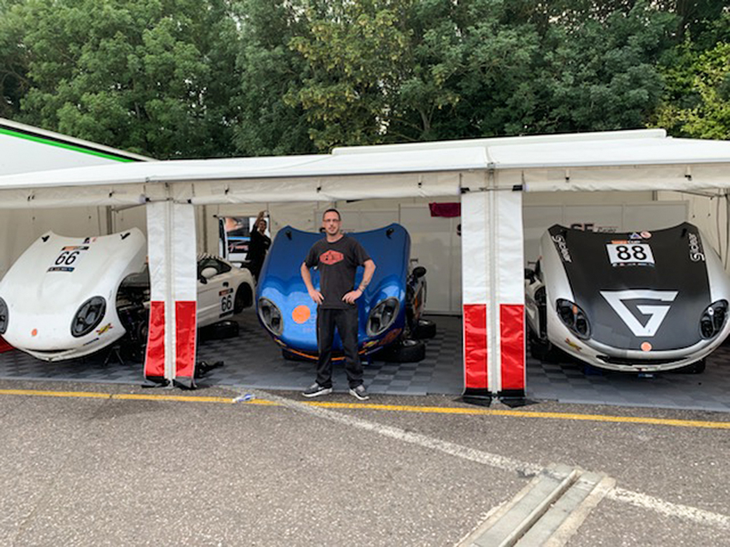 Nick, temporary vehicle technician working at Brands Hatch
