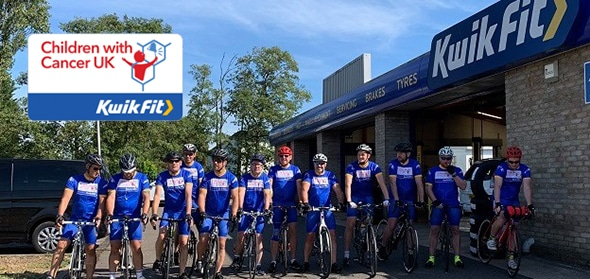 Autotech Recruit donates £1204 to Kwik Fit Charity BIke Ride
