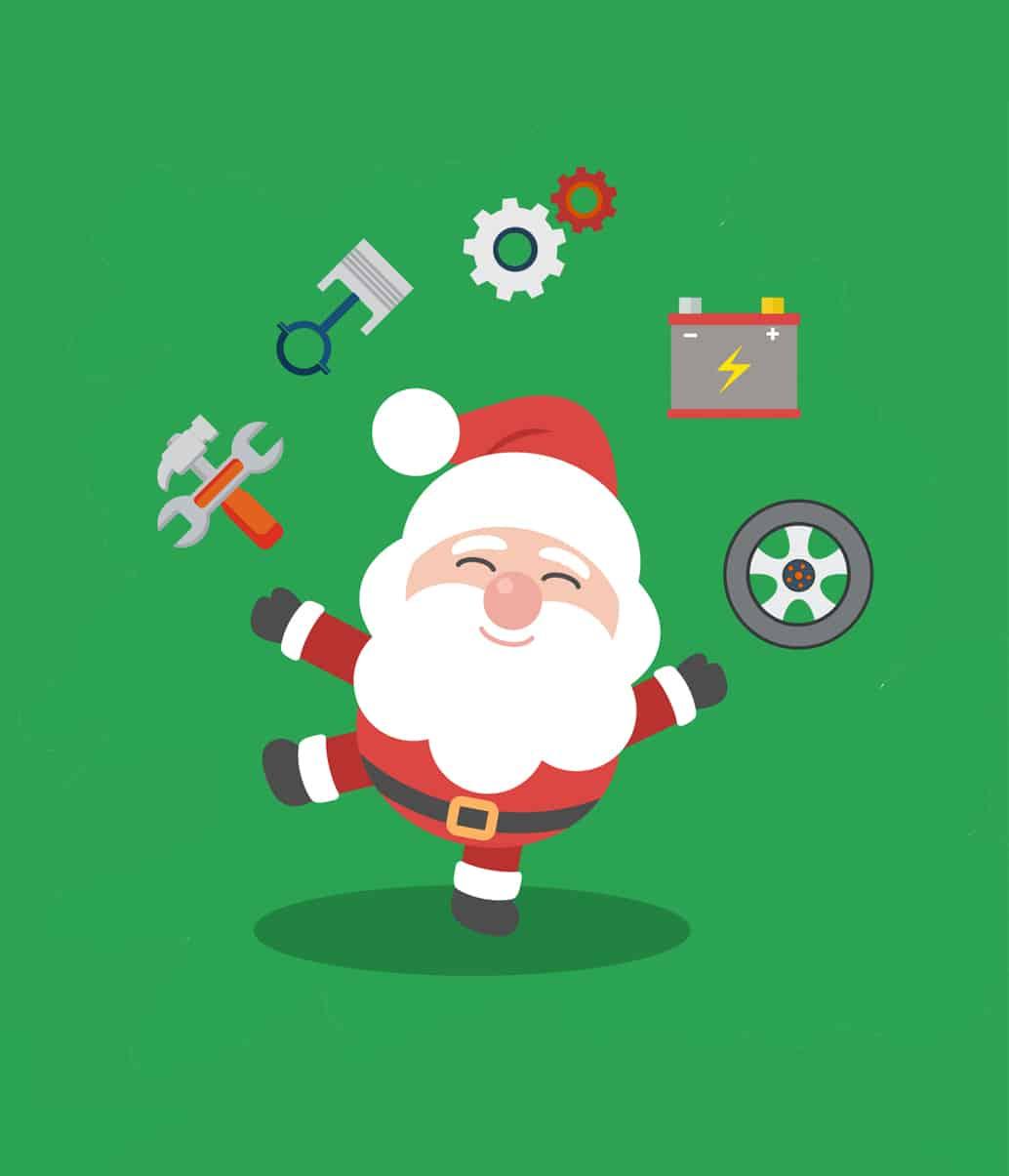 If Santa Claus was a car mechanic