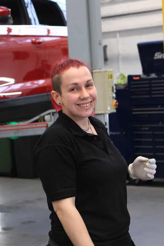 Sophie Hemming is Autotech Academy's first a female vehicle technician intern